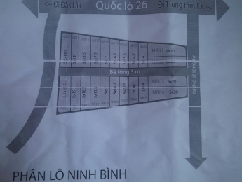 Bán nhanh lô đất dự án Ninh Bình